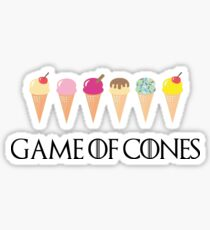 Game of Cones Sticker