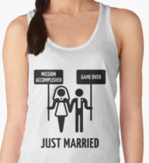 Just Married – Mission Accomplished – Game Over (Black) Women's Tank Top