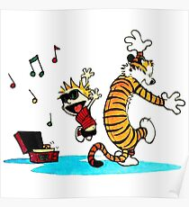 Calvin and Hobbes Music  Poster