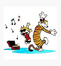 Calvin and Hobbes Music  Photographic Print