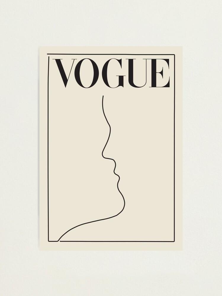 Alternate view of minimal vintage vogue Photographic Print