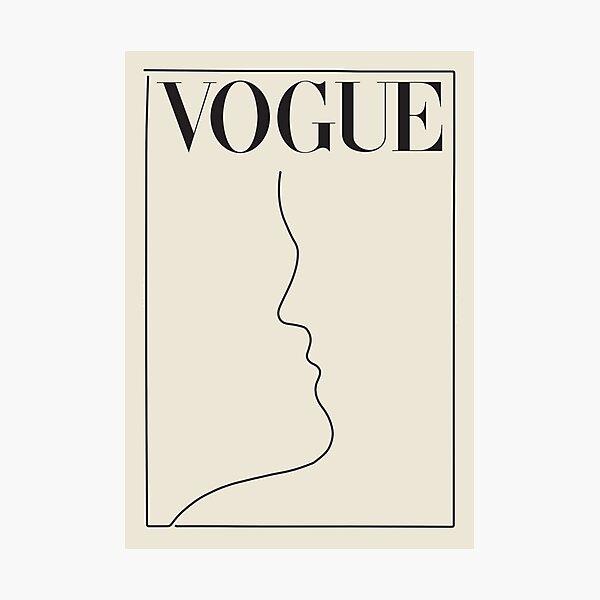 minimal vintage vogue Photographic Print