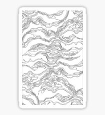 Water Abstract Print Sticker