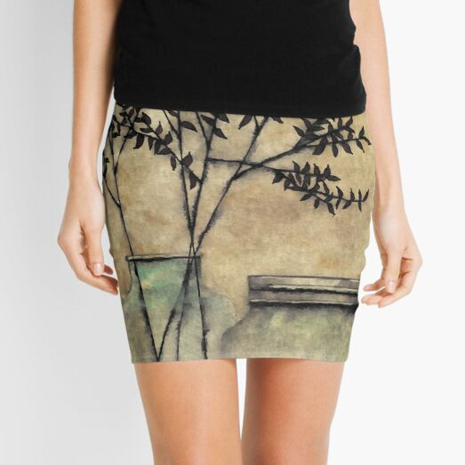 Jars & Leaves Mini Skirt