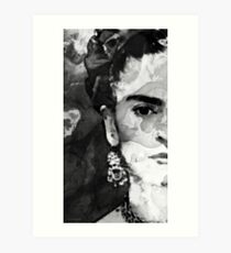 Black And White Frida Kahlo by Sharon Cummings Art Print