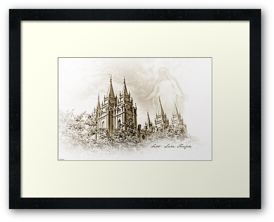 PhotoSketch - Salt Lake Temple by Kory Trapane