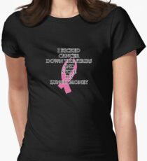 Breast Cancer Bully Womens Fitted T-Shirt