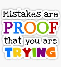 Text Sayings Quote Mistakes  Sticker