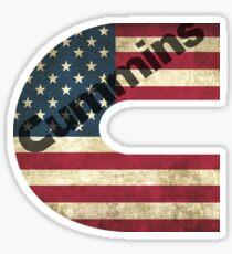 Cummins American Flag Sticker