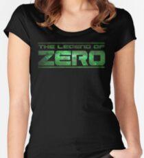 ZERO Logo - Green Nebula Women's Fitted Scoop T-Shirt
