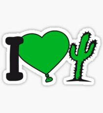 i love love heart cactus nature desert gardener plants gardening green thumb Sticker