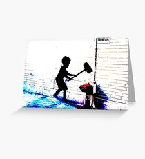 banksy Greeting Card