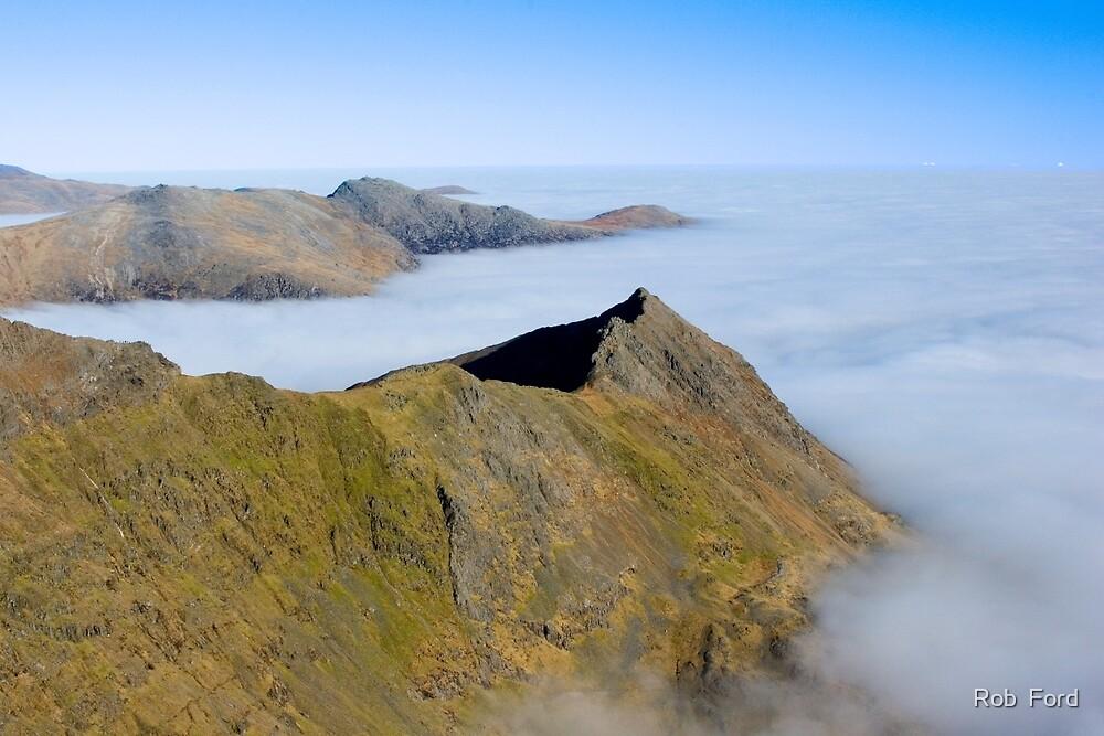 Crib Goch Ridge, Snowdonia, Wales. by Rob  Ford