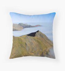 Crib Goch Ridge, Snowdonia, Wales. Throw Pillow