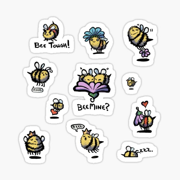 BEES Sticker Sheet! Megapack MEDIUM, LARGE, OR EXTRA-LARGE ONLY Sticker