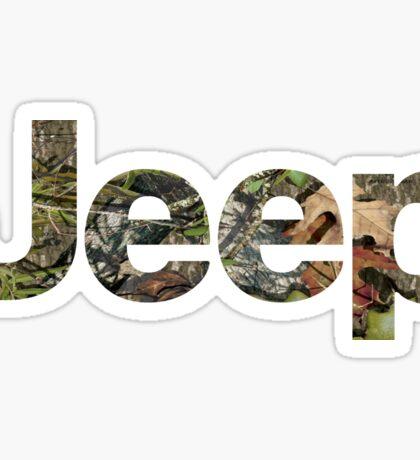 Jeep Mossy Oak Sticker