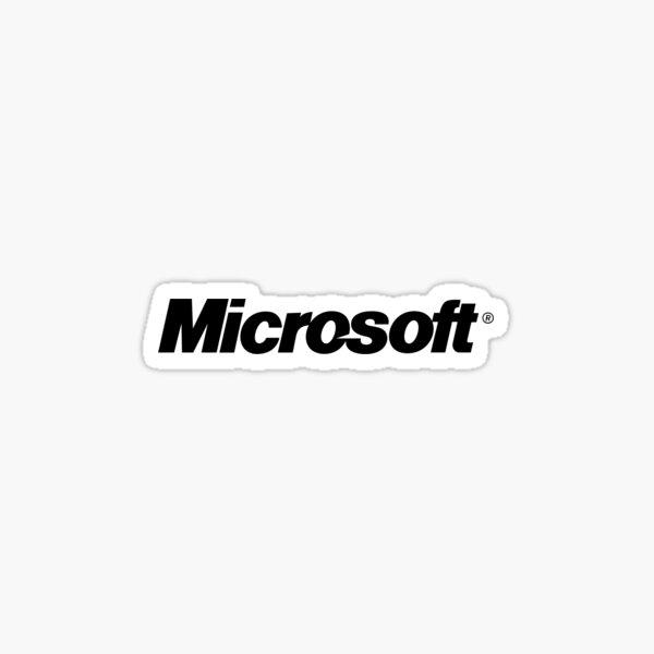 Logotipo de Microsoft Name Pegatina