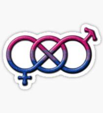 Bisexual Pride Gender Knot Sticker