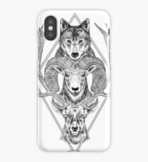 Wolf Ram Hart iPhone Case