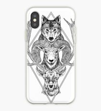 Wolf Ram Hart iPhone Case