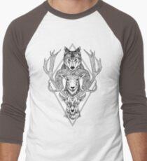 Wolf Ram Hart Men's Baseball ¾ T-Shirt
