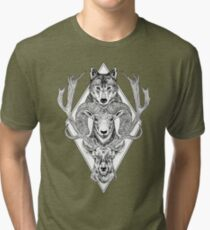 Wolf Ram Hart Tri-blend T-Shirt