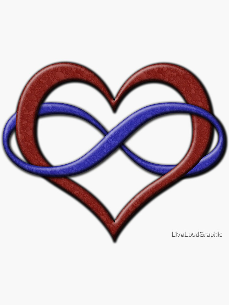 Polyamory Pride Infinity Heart by LiveLoudGraphic