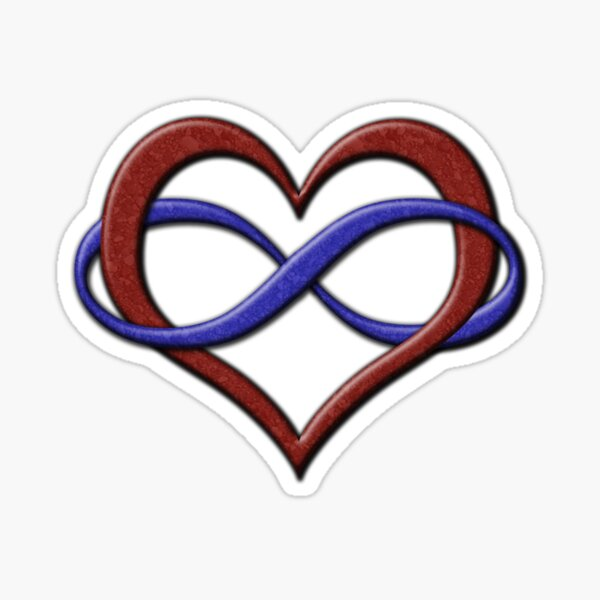 Polyamory Pride Infinity Heart Sticker