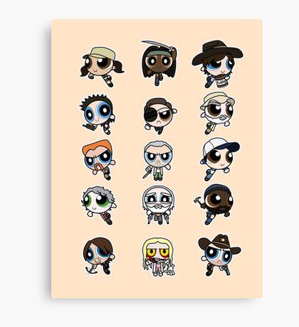 The Walking Dead Puffs Parody Canvas Print