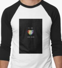 To the Moon Pride Heart Men's Baseball ¾ T-Shirt