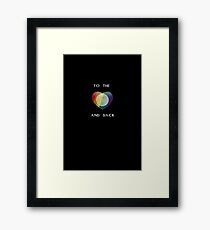 To the Moon Pride Heart Framed Print