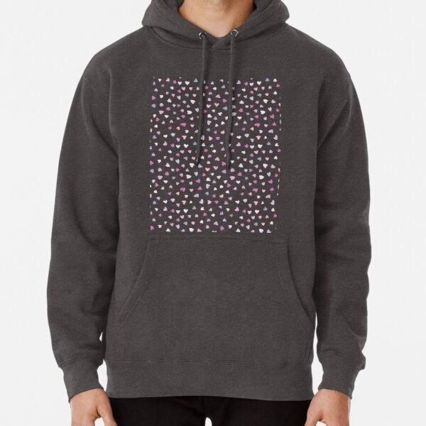 Heard Love Pattern Couple Gift Pullover Hoodie
