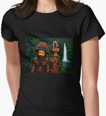 Huli men in the jungle of Papua New Guinea Painting T-Shirt