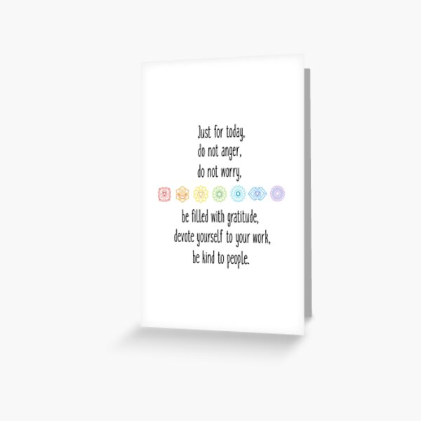 Reiki principles Greeting Card