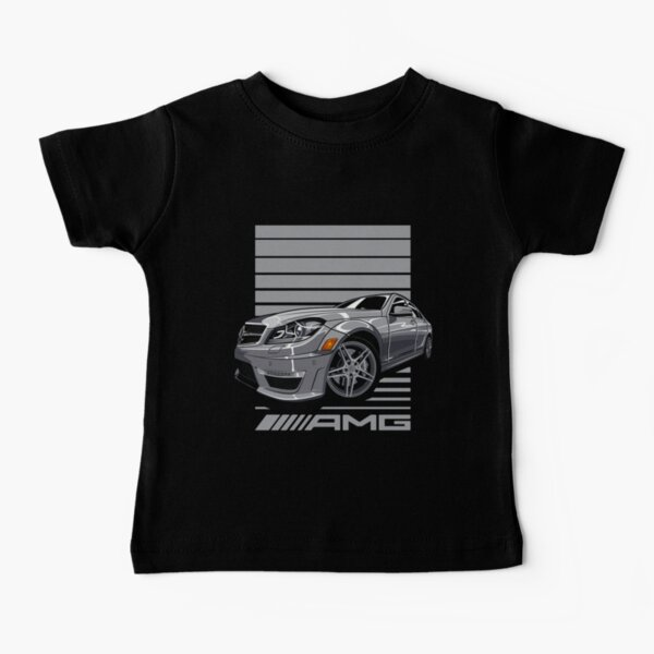 Mercedes Benz Benz W204 C63 AMG Camiseta para bebés