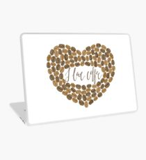 "Coffee heart ""I love coffee"" Laptop Skin"