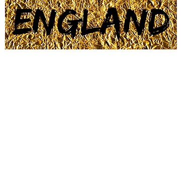 England - Gold and Black (T-shirt, Phone Case & more)  by RighteousOnix