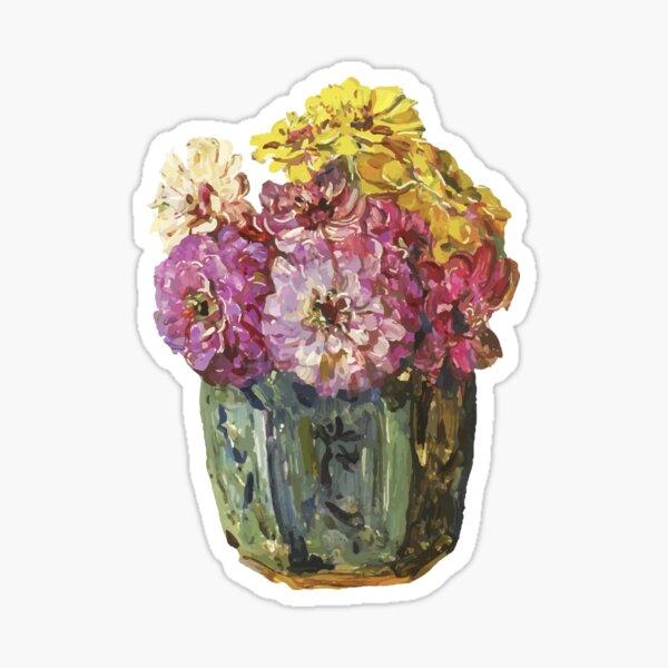 Vintage Flower vase Sticker