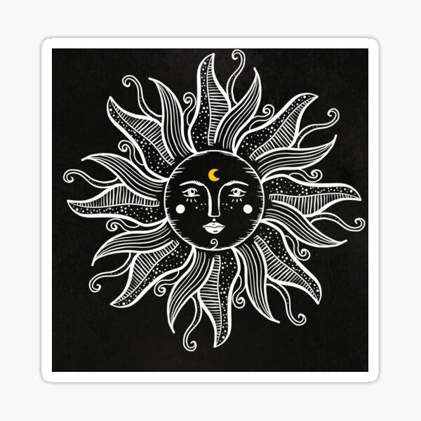 Vintage Sun With Sunshine  Sticker
