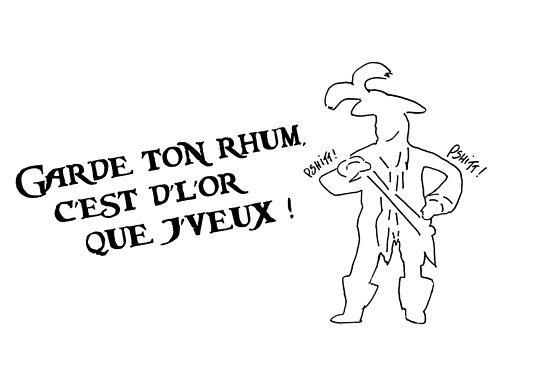 Garde ton rhum (inspiré par l'attraction Pirates de Caraïbes) by jackmosby