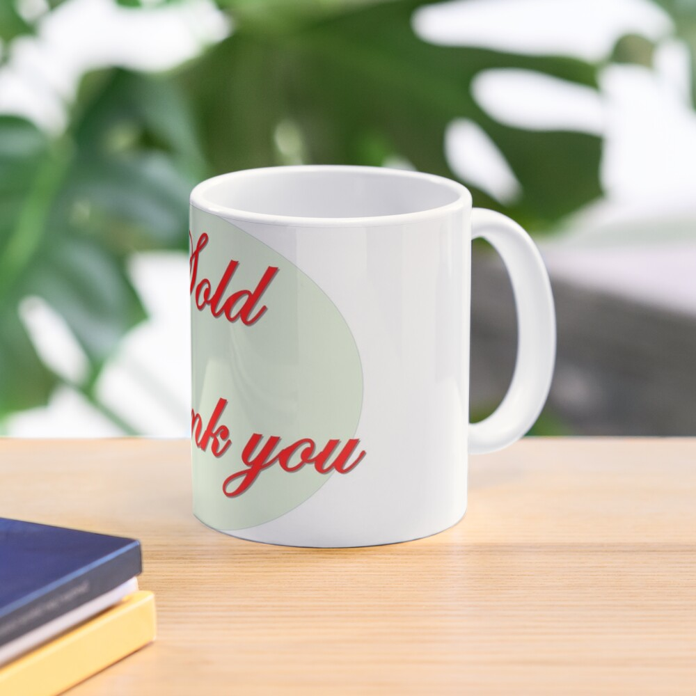Sold  Thank you in red font  Mug