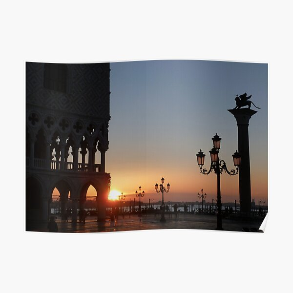 Sunrise in Venice Poster
