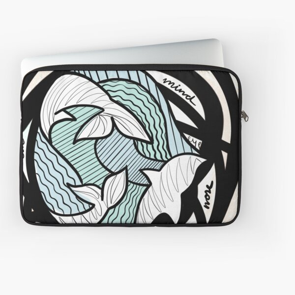Portrait of a Mind Illustration Art Print Abstract Drawing Laptop Sleeve