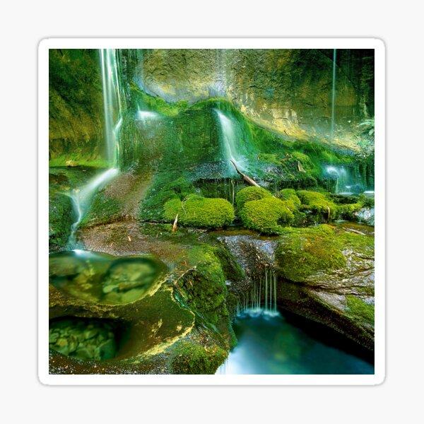 Mossy cascades, Walls of Jerusalem Sticker