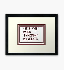 Dead Language Framed Print