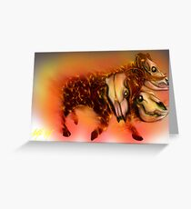 Born of Fire variant 1 Greeting Card