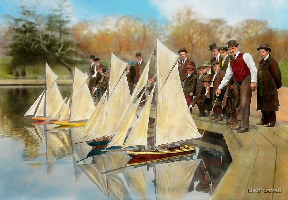 Boat - Sorry kids this ones mine 1910 by Michael Savad