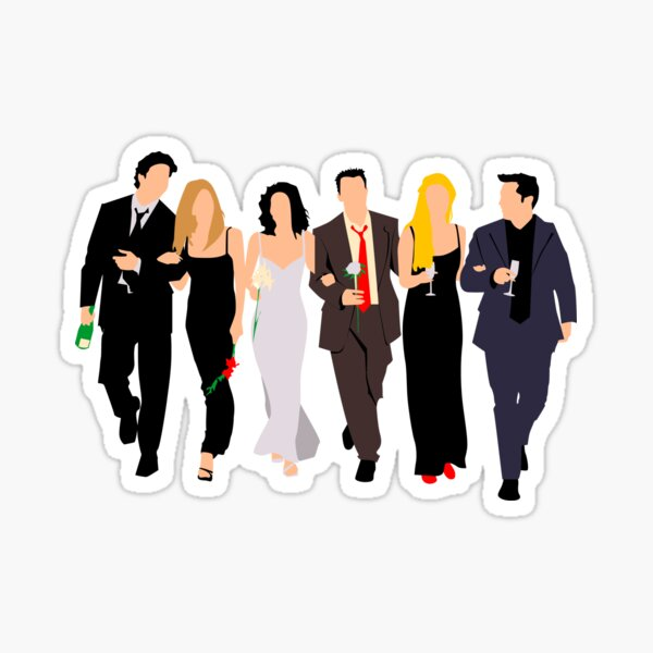 Cast Party Minimalist Sticker