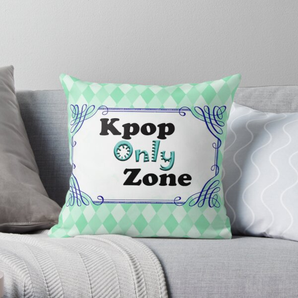 Kpop Only Zone Throw Pillow