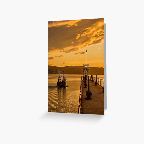 Weymouth Harbour Seascape Dorset England Greeting Card